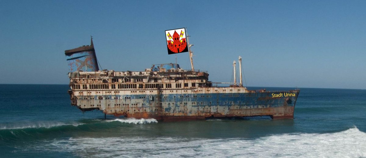 Der Dampfer Unna wird verheizt